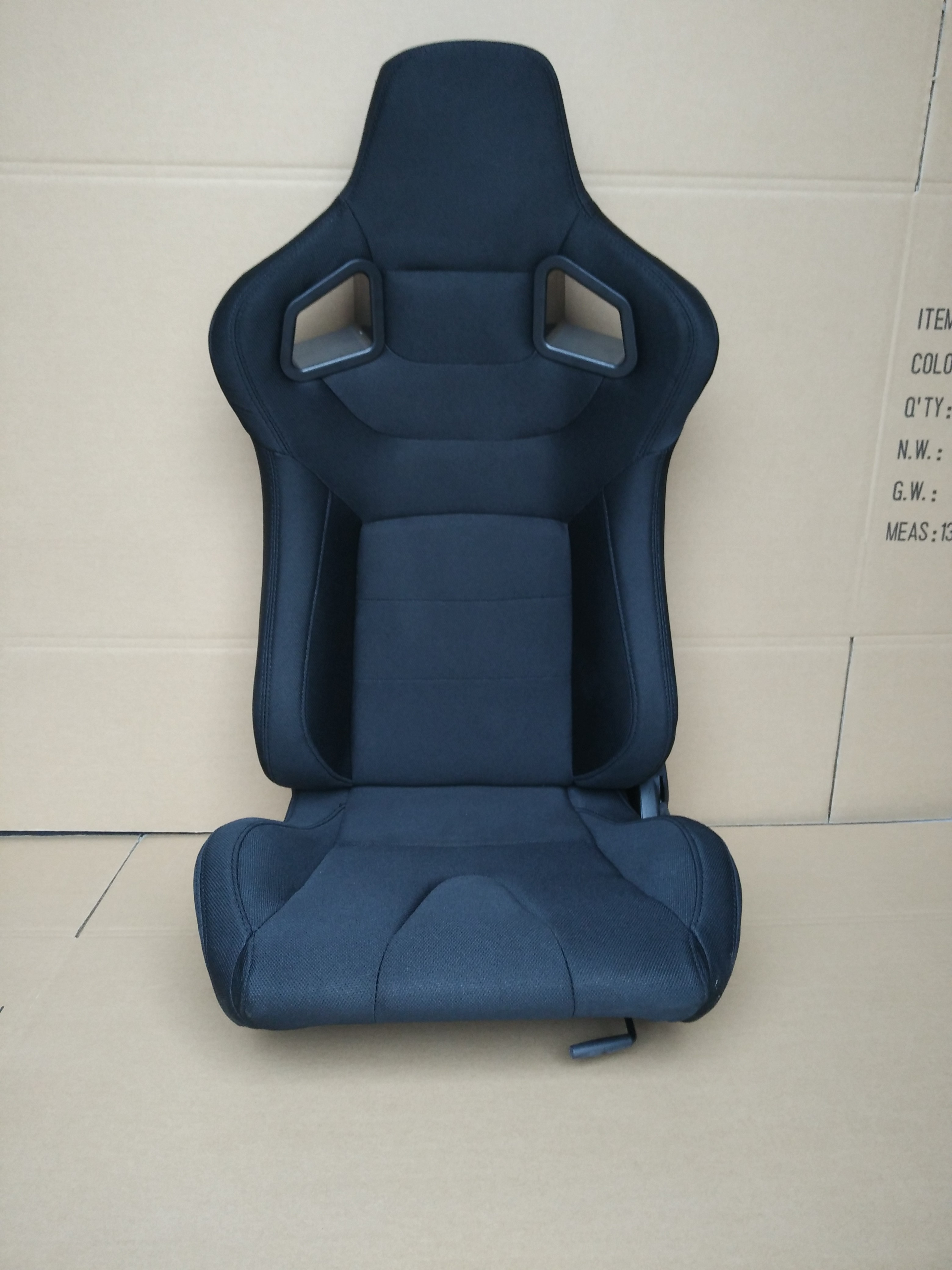 Different Material Sport Racing Seats PVC Fabric Car Seat 131*27*57CM
