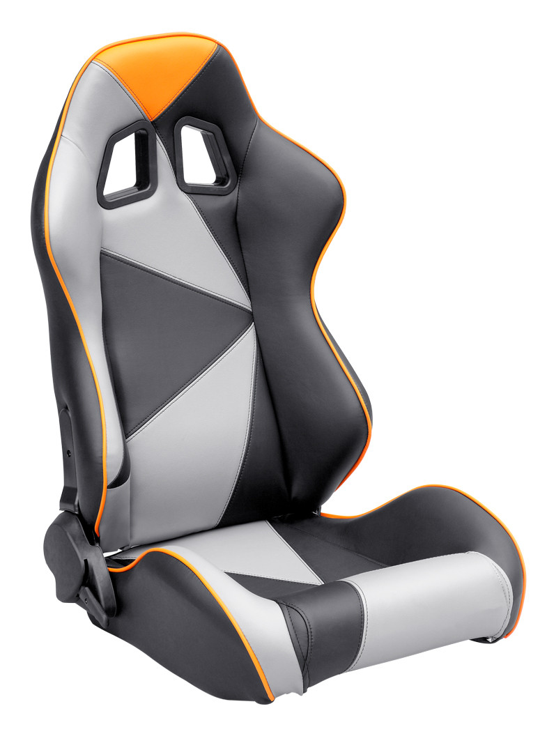 Adjustable Style PU / PVC Leather Racing Seat / Sports Car Seat with single slider